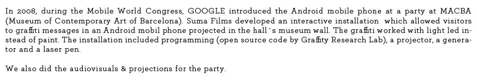 texto macba google web